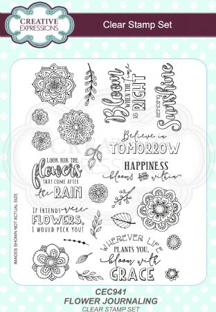 Clear Stamp Set - Flower Journaling A5 Clear Stamp Set
